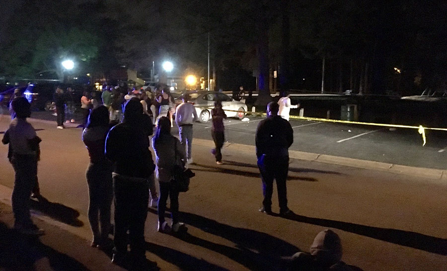 Shooting scene on Anderson Drive in Dunleith (Photo: Delaware Free News)