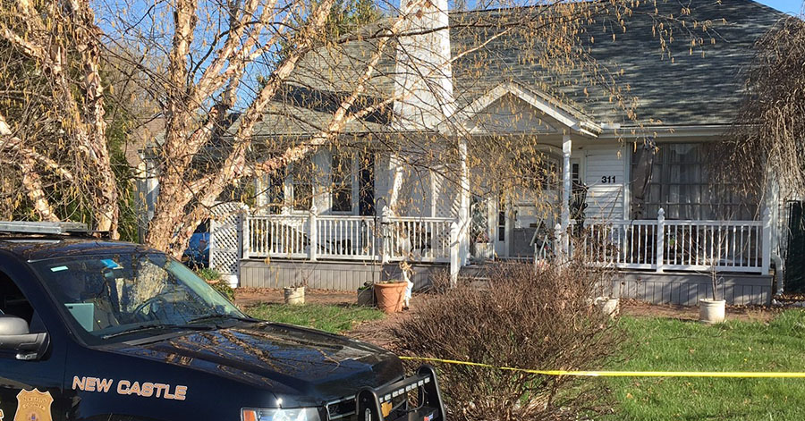 The bodies of a man and woman were found in this home on East Highland Avenue east of Newport. (Photo: Delaware Free News)