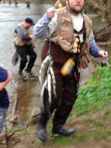 Anglers gathered along White Clay Creek, off Chambers Rock Road, north of Newark for the opening day of trout season in northern Delaware. (Photo: Delaware Free News)