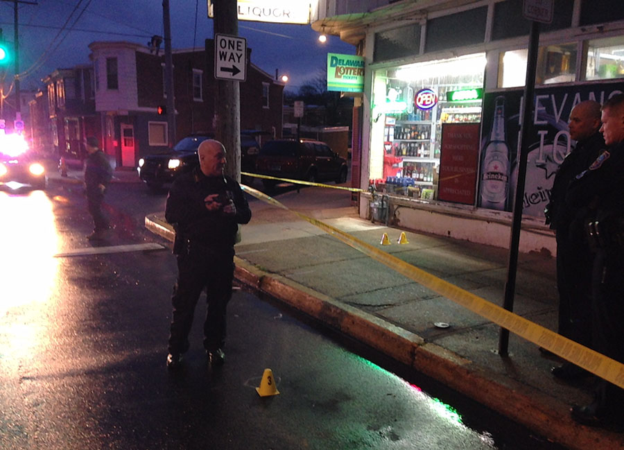 Wilmington police investigate shooting on Maryland Avenue. (Photo: Delaware Free News)