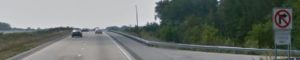 Southbound Route 1 at New Discovery Road emergency access (Photo: Google maps)