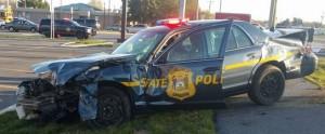 Crash on U.S. 13 near Camden involved Delaware State Police car. (Photo: Camden-Wyoming Fire Company/Facebook)