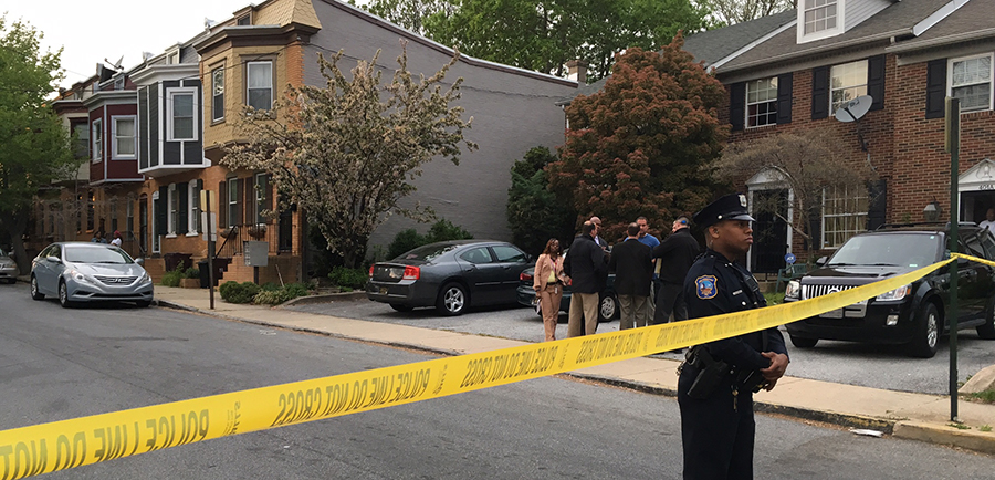 Wilmington police investigate after teen was shot by officer following pursuit. (Photo: Delaware Free News)
