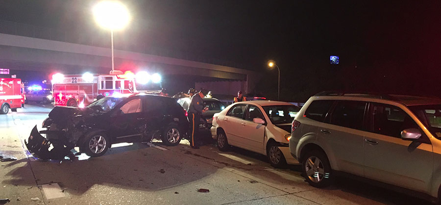 Crash scene on Interstate 495 (Photo: Delaware Free News)