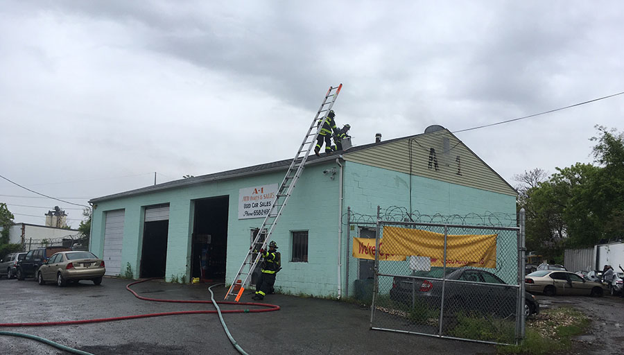 Fire at A-1 Auto Parts and Sales (Photo: Delaware Free News)