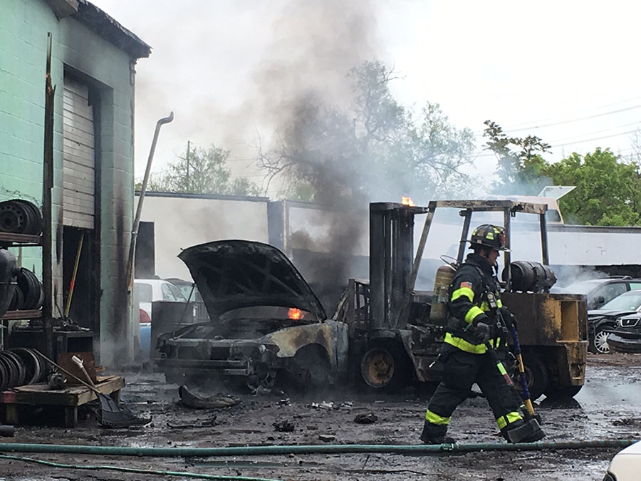 Fire causes damage at Wilmington salvage yard – Delaware Free News