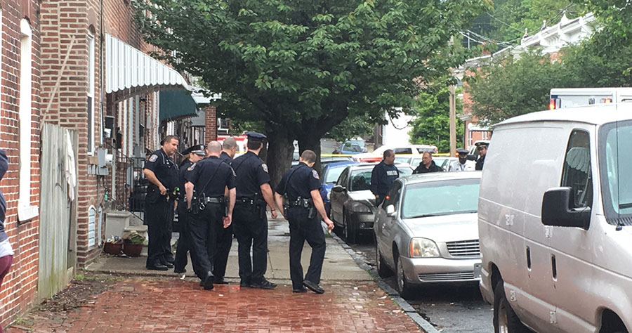 Wilmington police investigated shooting on Beech Street. (Photo: Delaware Free News)