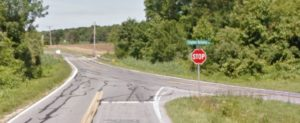 Clayton Delaney Road intersection as viewed from Delaney Maryland Line Road (Photo: Google maps)