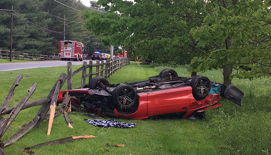 Accident scene on Route 100 in Greenville. (Photo: Delaware Free News)