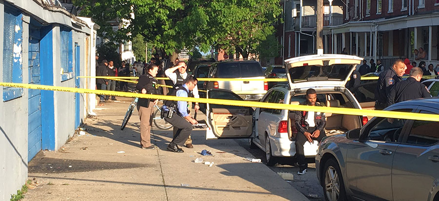 Police investigate fatal shooting at Third and North Rodney streets in Wilmington. (Photo: Delaware Free News)