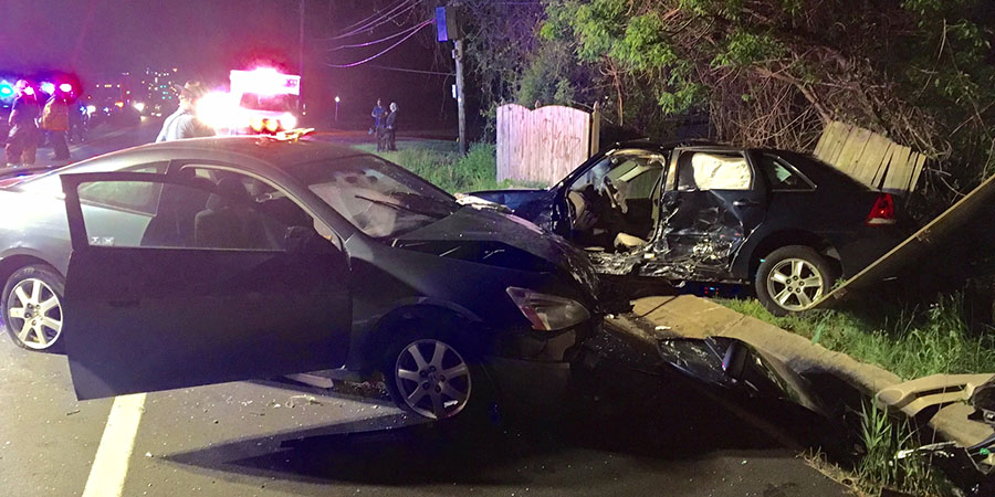 Accident scene on Lancaster Pike (Photo: Delaware Free News)