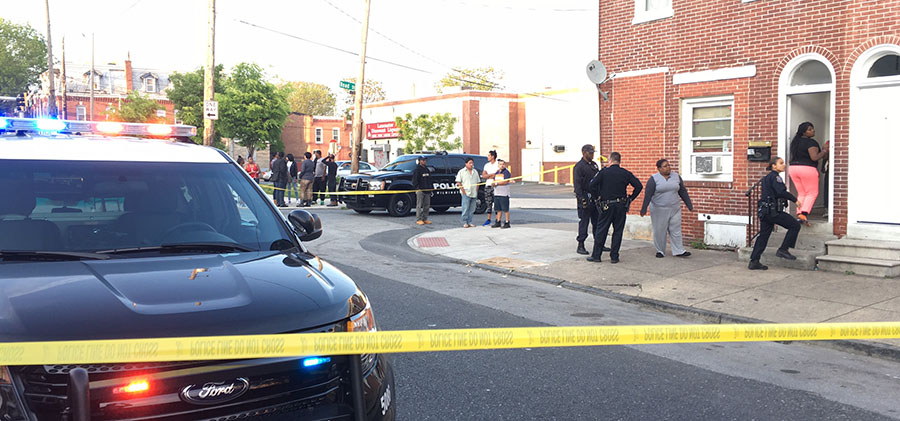 Police investigate shooting at Lancaster Avenue and Franklin Street in Wilmington. (Photo: Delaware Free News)