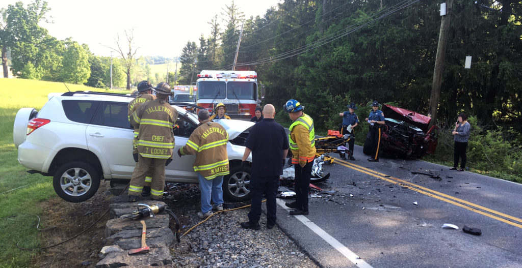 Two SUVs collided head-on on Montchanin Road in Greenville, killing one driver and injuring the other. (Photo: Delaware Free News)