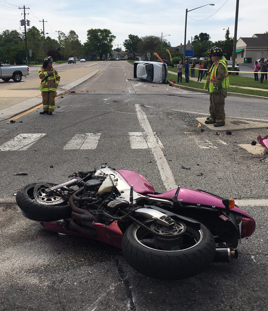 Accident scene on U.S. 13 at Memorial Drive (Photo: Delaware Free News)