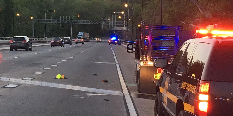 Pedestrian was struck in northbound lanes on the Interstate 95 bridge over the Brandywine. (Photo: Delaware Free News)