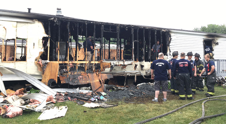 Fire damage in Waterford (Photo: Delaware Free News)