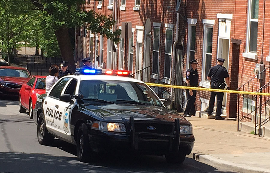 Wilmington police investigate shooting of woman in the 600 block of W. Sixtth St. (Photo: Delaware Free News)