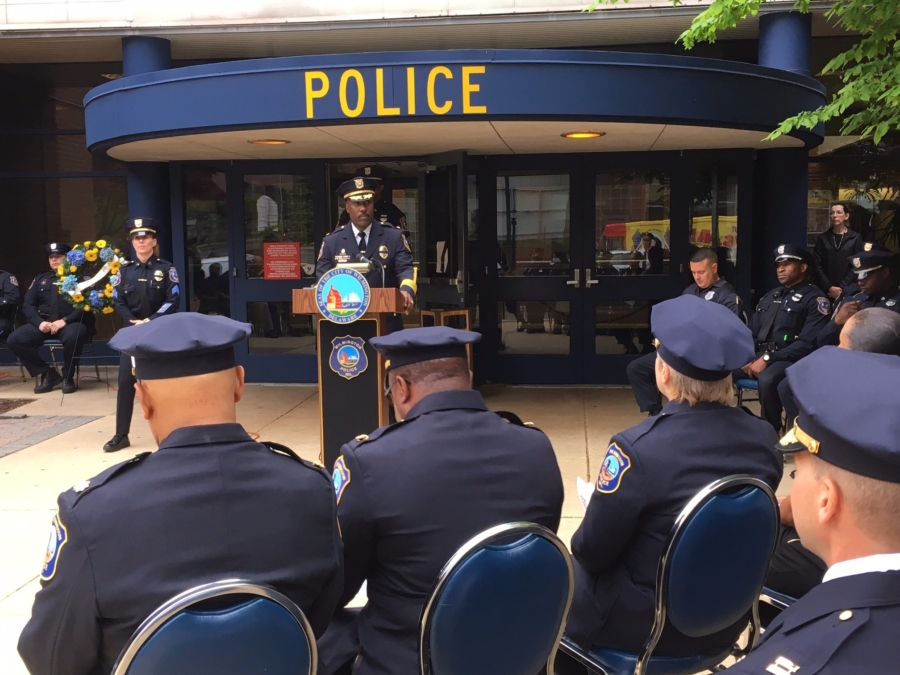 Wilmington Police Department Police Memorial Ceremony was held Friday at the William T. McLaughlin Public Safety Building to honor the department's 10 fallen officers.  (Photo: Delaware Free News)
