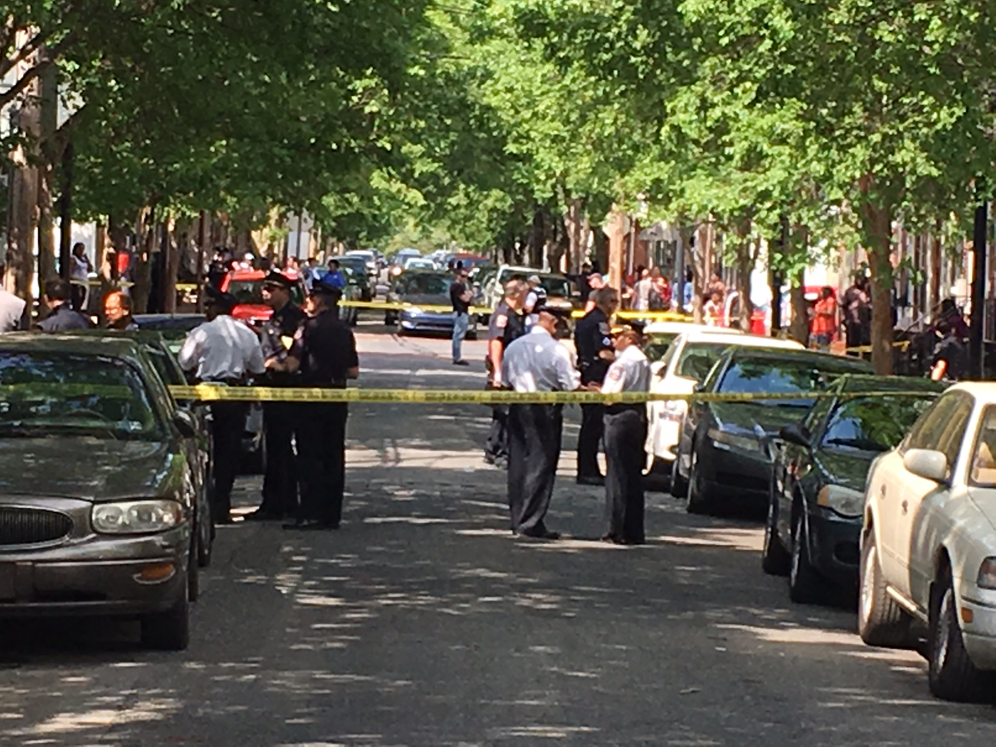 Police investigate shooting on Clifford Brown Walk. (Photo: Delaware Free News)