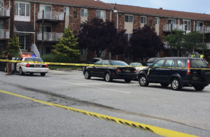 Shooting scene at Apple Chase Apartments (Photo: Delaware Free News)