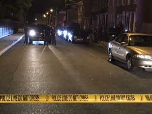 Shooting scene in 400 block of E. 12th St. (Photo: Delaware Free News)