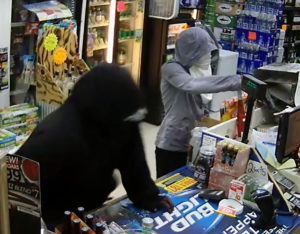 Harrington police released surveillance images from Bridle Bit Liquors robbery.