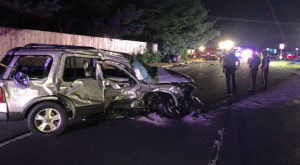 Driver of SUV was injured in East Chestnut Hill Road crash. (Photo: Delaware Free News)