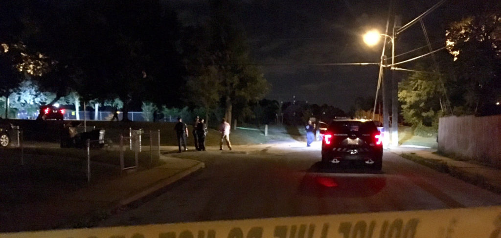 Wilmington police investigate shooting in Eastlawn playground off North Church Street. (Photo: Delaware Free News)