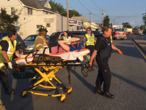 Injured person was taken to Christiana Hospital. (Photo: Delaware Free News)