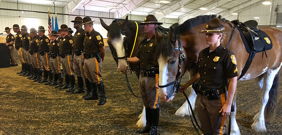 Graudation ceremony was held for New Castle County police mounted officers and horses. (Photo: Delaware Free News)