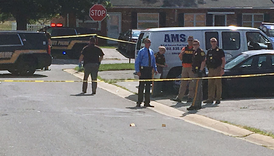 Shooting scene on Red Lion Drive (Photo: Delaware Free News)