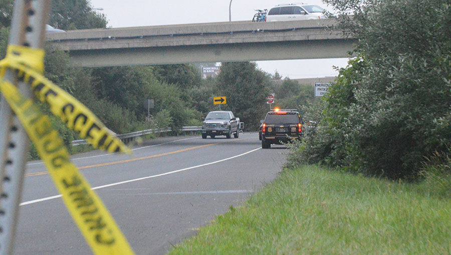 Shooting victim was found in car near the entrance to Rutledge commmunity along Route 72, just west of Route 1 overpass. (Photo: Delaware Free News)