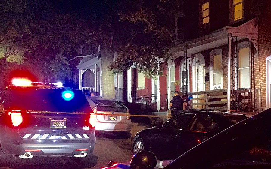 Police investigate shooting in 1300 block of W. Fifth St. in Wilmington. (Photo: Delaware Free News)