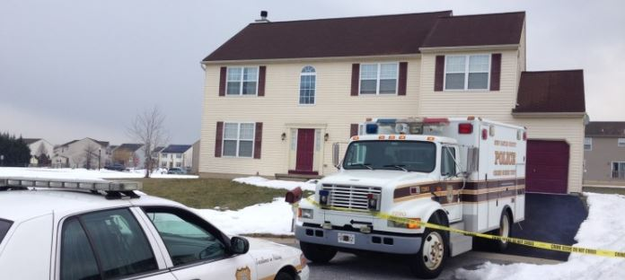 Scene of homicide in the 900 block of Eider Court in Mallard Pointe. (Photo: Delaware Free News)