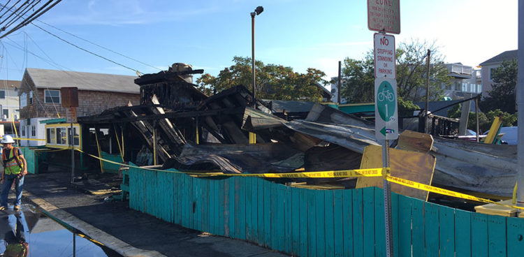Ed's Chicken & Crabs restaurant in Dewey Beach was destroyed by fire after a car ran into it. (Photo: Delaware Free News)