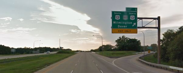 Interstate 495 at U.S. 13 south of Wilmington (Photo: Google maps)