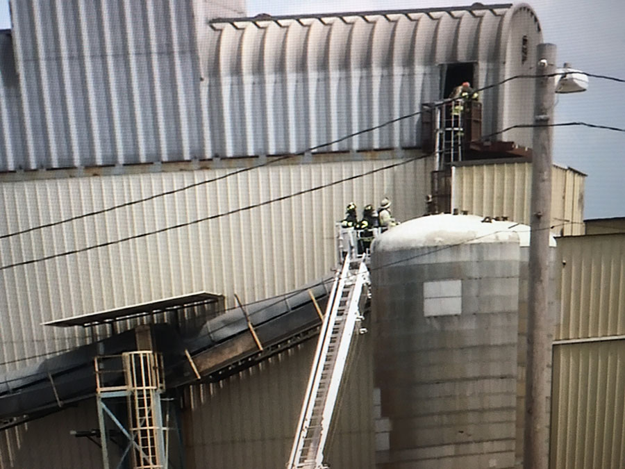Fire caused extensive damage at IKO production plant in Edgemoor. (Photo: Delaware Free News)