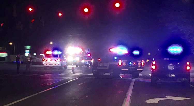 Delaware State Police investigate after man was struck by car on Kirkwood Highway at Delaware Park Drive. (Photo: Delaware Free News)