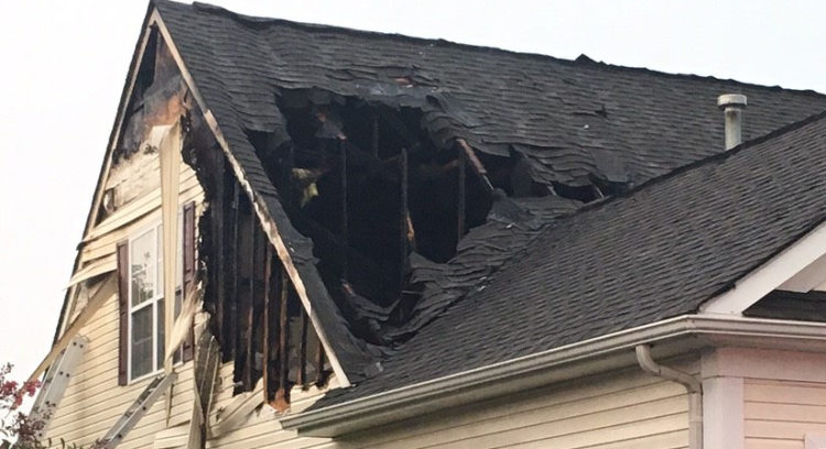 Fire heavily damaged home on Whispering Trail in Middletown. (Photo: Delaware Free News)