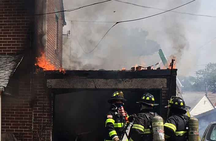 Fire hit home on Stahl Avenue in Wilmington Manor. (Photo: Delaware Free News)