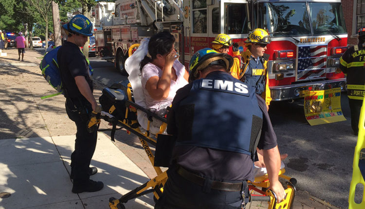 A man and a woman were taken to a hospital for smoke inhalation after fire broke out in 300 block of W. Sixth St. in Wilmington. (Photo: Delaware Free News)