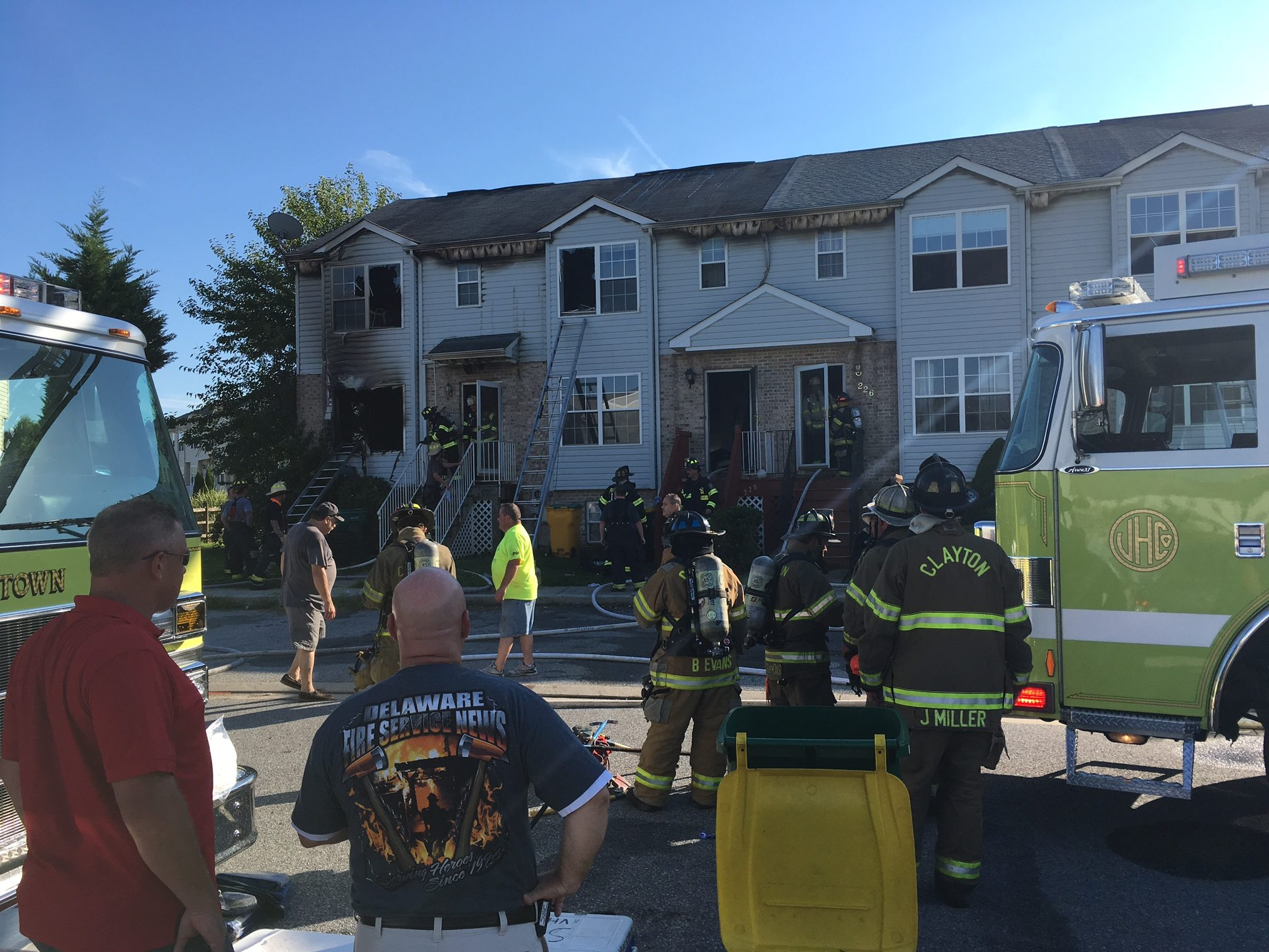 Fire damaged five townhomes in Middletown Village. (Photo: Delaware Free News)