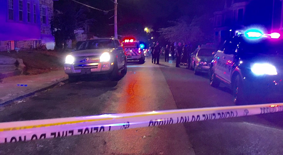 Police investigate shooting at 20th and Washington streets in Wilmington. (Photo: Delaware Free News)