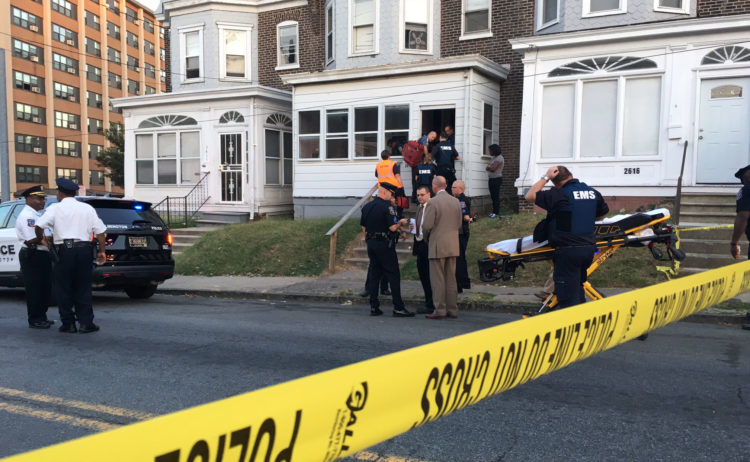 Wilmington police investigate shooting in the 2600 block of N. Market St. (Photo: Delaware Free News)