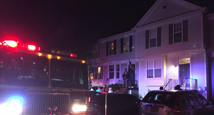 Scene of structural collapse on Denny Circle in Brookfield Townhouse community in Bear (Photo: Delaware Free News)