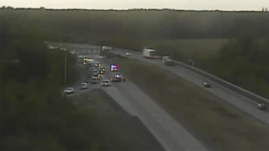 Southbound Route 1 traffic is diverted off the highway at Scarborough Road exit. (Photo: DelDOT traffic cam)