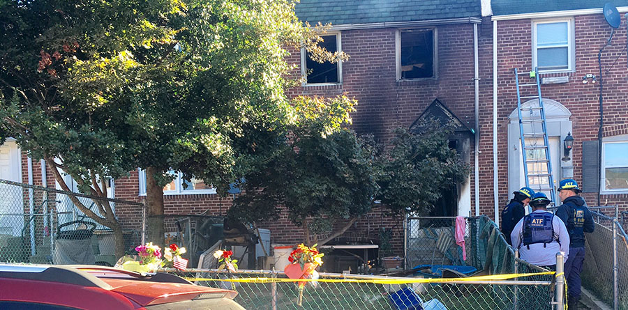 Two Wilmington firefighters were killed and four injured in blaze at 1927 Lakewood Road. (Photo: Delaware Free News)