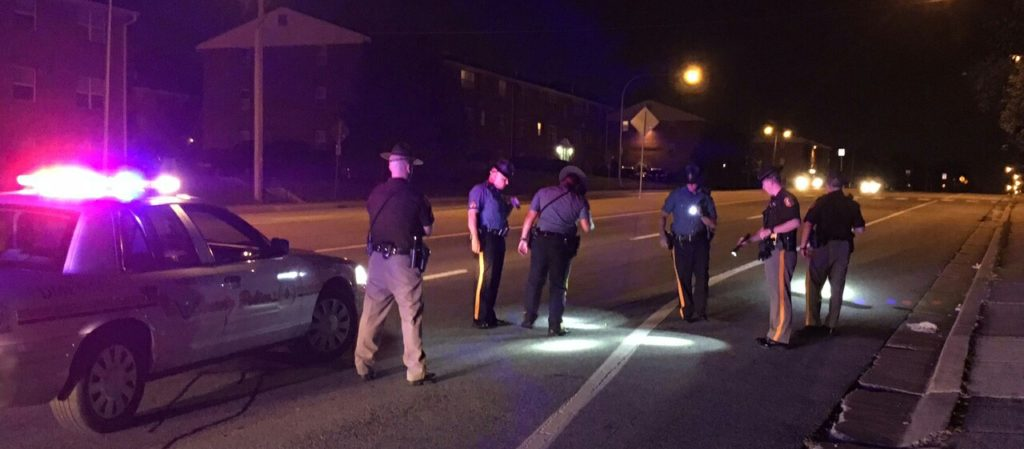 Police investigate shooting along Route 273. (Photo: Delaware Free News)