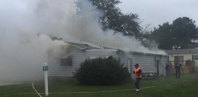 Fire on Sussex Lane in Mariner's Cove community (Photo: Indian River Volunteer Fire Company)