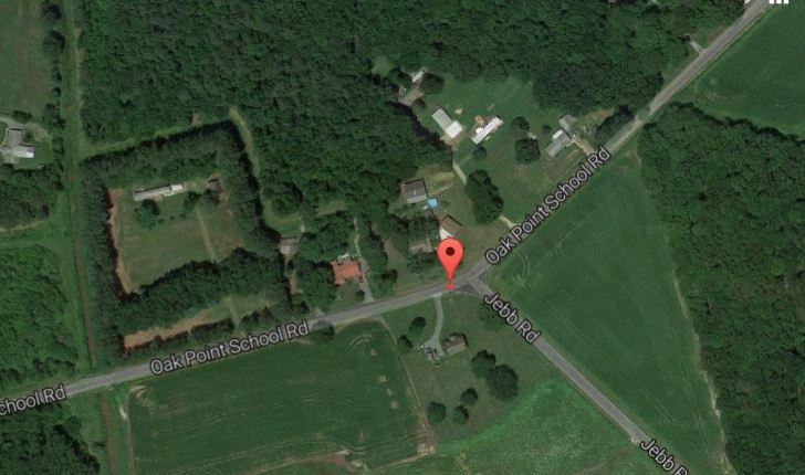 Oak Point School Road west of Camden (Photo: Google maps)